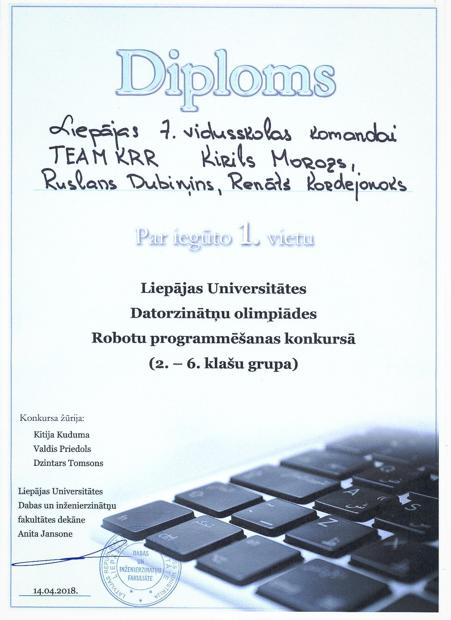 robotikas diploms
